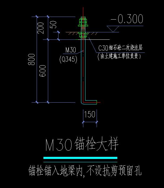 预埋件钢结构图纸