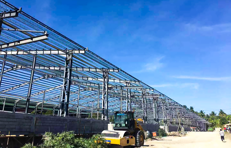 外贸大型钢结构仓库工程案例