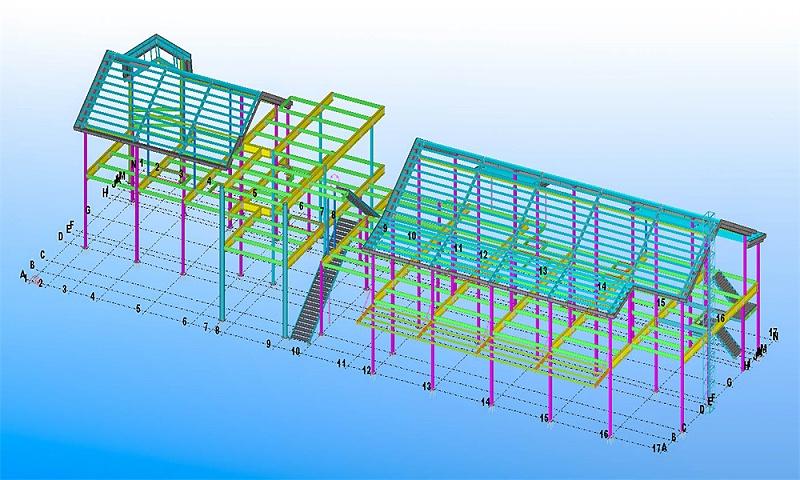 钢结构加工别墅