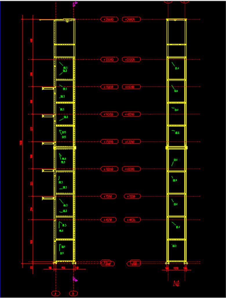 钢结构电梯井