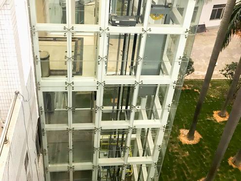 【天谱安工程案例】—— 办公楼加装电梯钢结构井